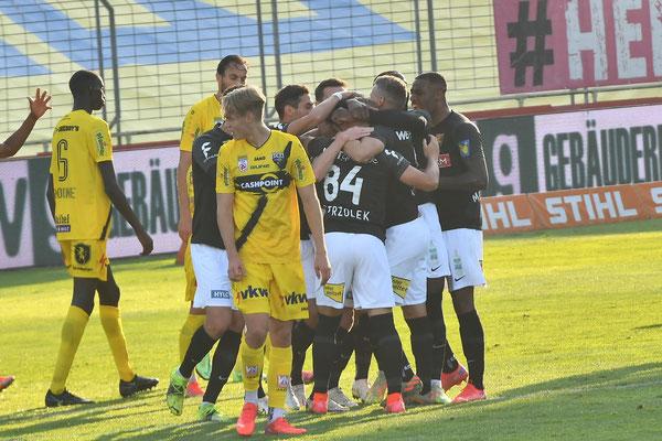 Nach nur wenigen Minuten feierte Admira Wacker seinen ersten Treffer in diesem Spiel gegen Altach