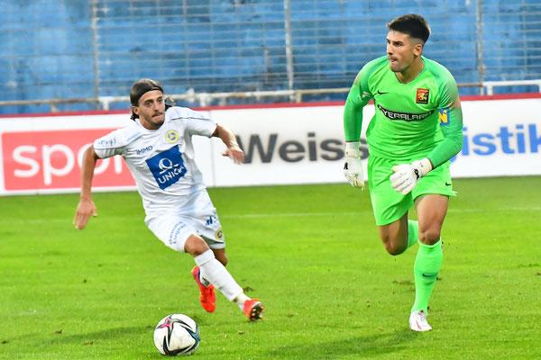 Auch Osman Hadzikic kam zum Einsatz und überzeugte mit seiner Leistung
