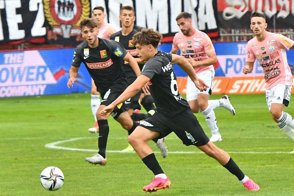 Die jungen Admiraner rund um Luca Kronberger spielten auch gegen Hartberg groß auf zeigten ihr Talent