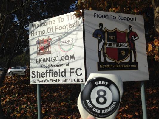 Auch Fans von Admira Wacker besuchten das ehrwürdige Sheffield und somit das Home of Football - Danke Ossi für den Schnappschuss!