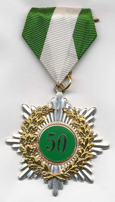 50 Jahre Vereinsmitglied