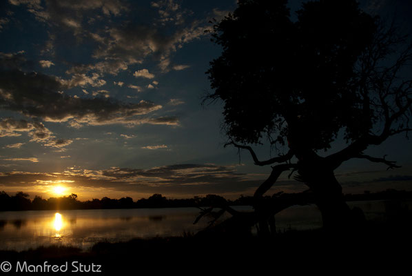 Sonnenuntergang im Lebala Camp