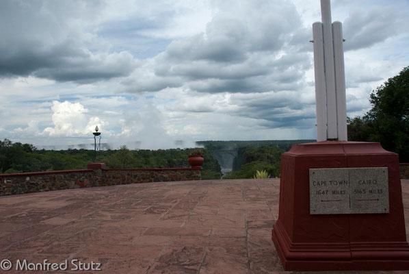 Aussicht vom Victoria Falls Hotel
