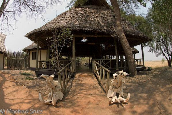 Hauptgebäude des Katavi Wildlife Camps