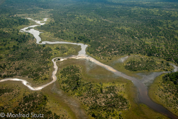 Flug ins Okavangodelta