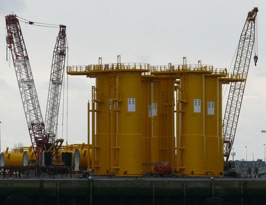 Getuigen van werkzaamheden voor de Power Bank voor de kust