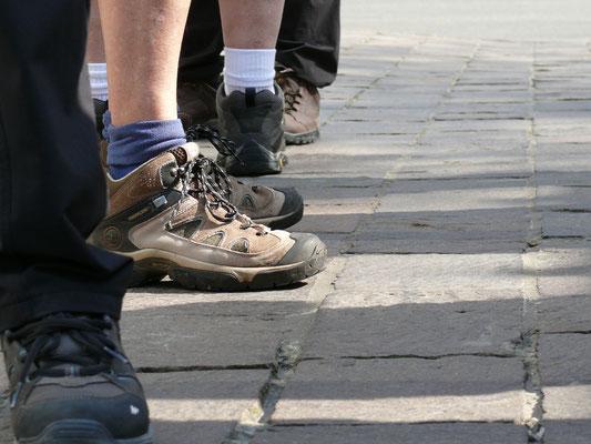 Toestand van enkele schoenen na een wandeldag