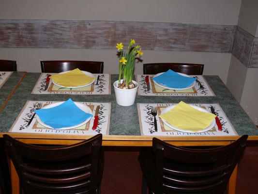 Schikking van de tafels