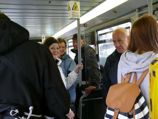 Per tram onderweg tussen Blankenberge en De Haan