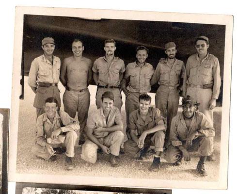 The crew back in Biak: Barnett, Whipland, Wright, Tantaquidgeon