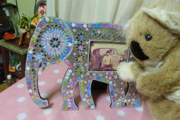 ゾウさんの写真立て