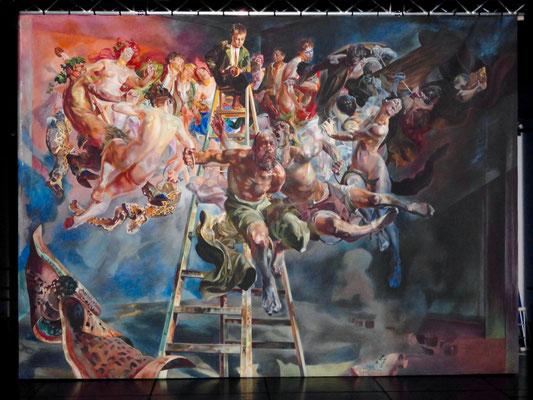 Diplomarbeit, Jacek Malczewski »Irrkreis« (Stoffmalfarbe, 4x6m)