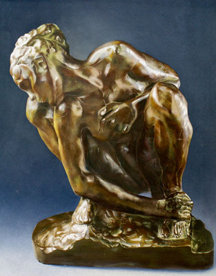 Prospekt Bronzeimitation (Stoffmalfarbe, 2x3m)
