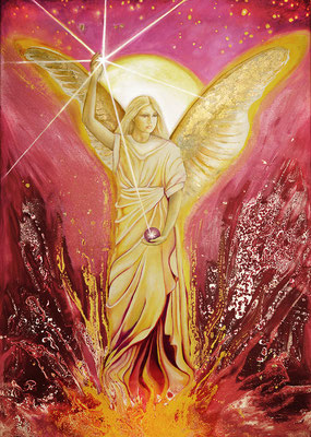 Erzengel Uriel, Flamme Gottes, trägt Licht in ausweglos erscheinende Situationen