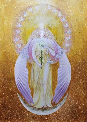 Erzengel Gabriel, öffnet den Raum für die göttliche Präsenz, in der sich die Seele ihrer Unversehrtheit erinnert