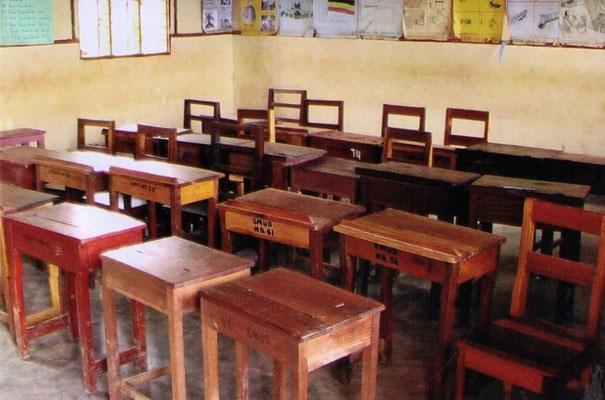 Klassenraum – noch mit alter Sitzordnung