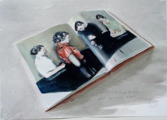 Marta & Slava | This is Michaël Borremans not Damien Hirst | Watercolor on paper | 45 x 62 cm | € 2.400,-