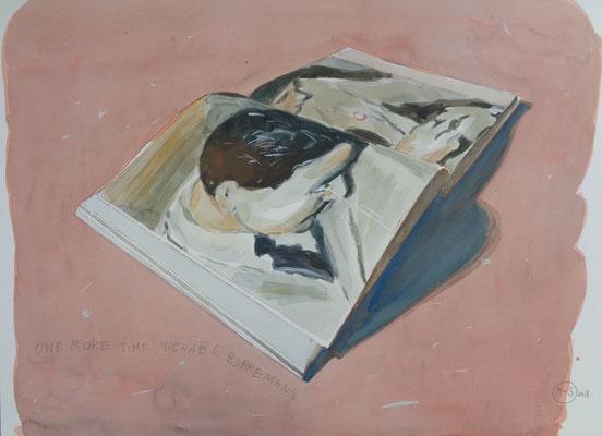 Marta & Slava | One more time Michaël Borremans | Watercolor on paper | 46 x 67 cm | € 2.400,-
