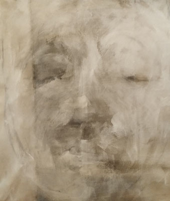 Marc Prat | White Mask | mixed on canvas | 100 x 85 cm | € 2.500,-