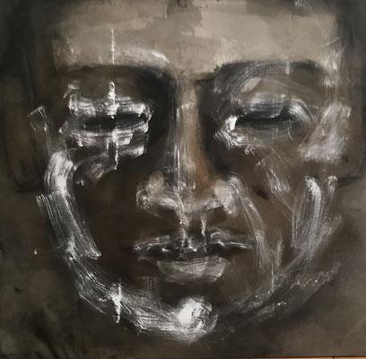 Marc Prat | Zen Mask | Mixed on canvas | 150 x 150 cm | € 3.800,-