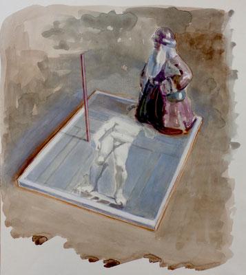 Marta & Slava | David and Santa | Watercolor on paper | 49 x 42 cm | € 2.100,-