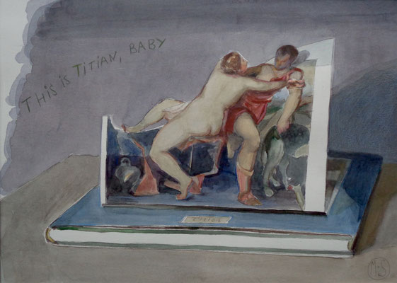 Marta & Slava | This is Titian, Baby | Watercolor and pencil on paper | 34 x 47 cm | € 2.100,-