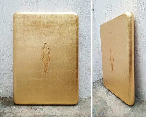 Oriol Texidor | Immersio 256 | Resin, gold leaf | 168 x 120 x 20 cm | € 9.000,-