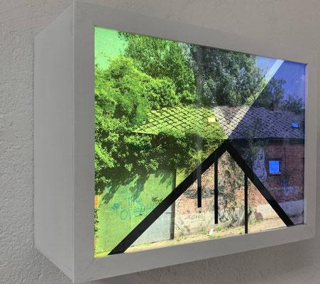 Greet Weitenberg | Abandoned #12 lightbox | Plexiglass, wood, Led, unique work | 23 x 32 x 13 cm | € 1.150,-