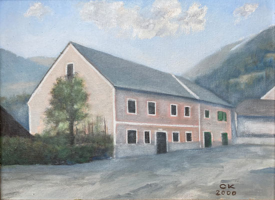 So gesehen vom Kalwanger Maler Carl Kaiblinger (Vorlage war eine Fotographie vom Hochwasser 1907)