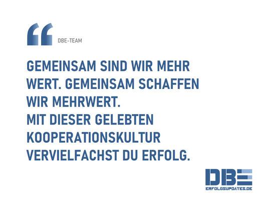 DBE Visual Quotes - Mehr wert DBE-Team
