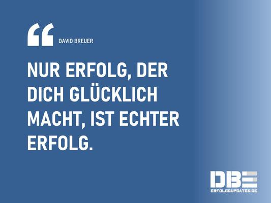 DBE Visual Quotes - Echter Erfolg David Breuer
