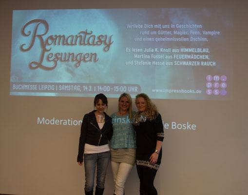 Lesung auf der Leipziger Buchmesse, mit Stefanie Hasse und Martina Fussel, Foto: Carlsen Verlag