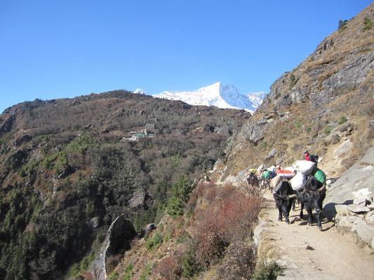 oberhalb Namche Bazar Richtung Westen
