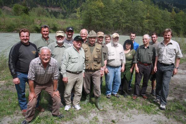 2013 Anfischen im Zerimbach mit den Mitgliedern der FG-Hermagor