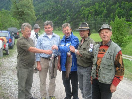 Anfischen 2004 Tantinger Emmerich, Hans-Jörg Moser, Siegmund Astner, Günter Pernul und Max Edlinger