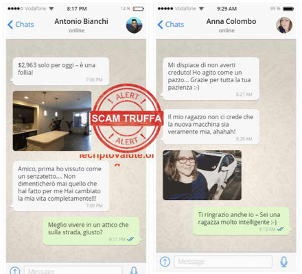 Bitcoin Profit false recensioni whatsapp italiano