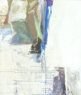 O.T. , 150 x130 cm, Tempera auf BW-Gewebe, 2020