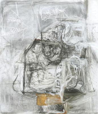 O.T., 150 x130 cm , Mischtechnik auf Holz, 2020