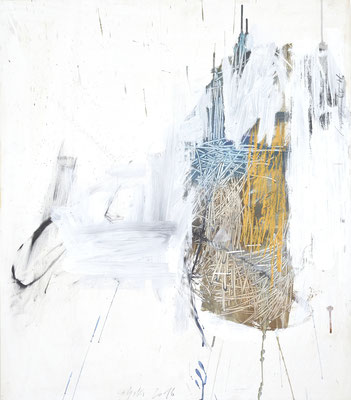 O.T., Tempera auf Holz, 80x70 cm
