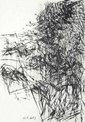 O.T., Kohle, 100x70 cm