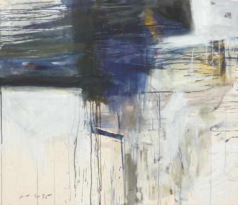 O.T., Tempera auf BW-Gewebe, 130x150 cm