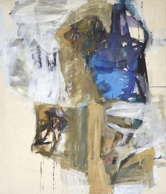 O.T., Tempera auf BW-Gewebe, 150x130 cm