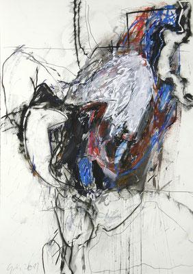 O.T., Mischtechnik, Collage,  100x70 cm
