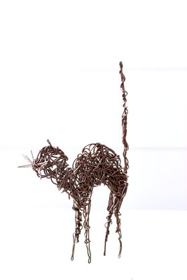old work !!! CAT in iron wire