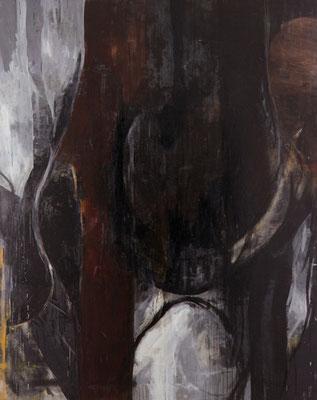 『 交差 』 1994  227.3cm×182.0cm  キャンバス 油彩