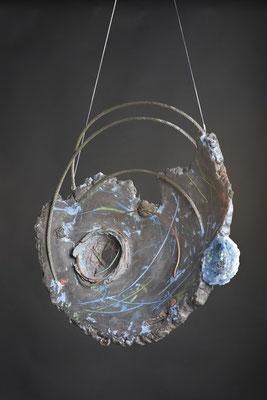 Empty Nest # 1: Cast Glass, Metal, Cement:  51 cm (h)x 51 cm (w) x 10 cm (d)