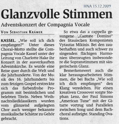 Glanzvolle Stimmen - Weihnachtskonzert 2009 der compagnia vocale kassel