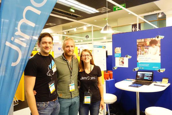 Lucas, Chris et Justine lors du salon des entrepreneurs à Paris