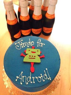 Le gâteau de lancement
