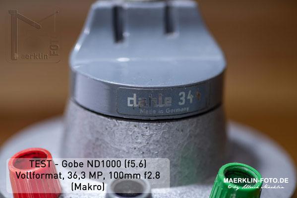 Filtertest, Gobe ND1000
